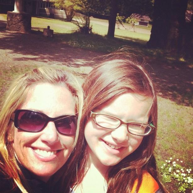 Mother and daughter having no fun at camp