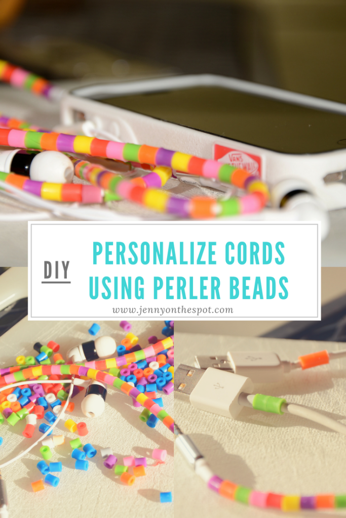 Personalized cords using perler beads | melty beads | iron beads
