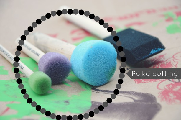 Round sponges for polka dot making via @jennyonthespot | jennyonthespot.com