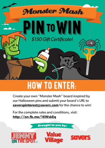 Value Village Monster Mash Pin to Win Contest via @jennyonthespot