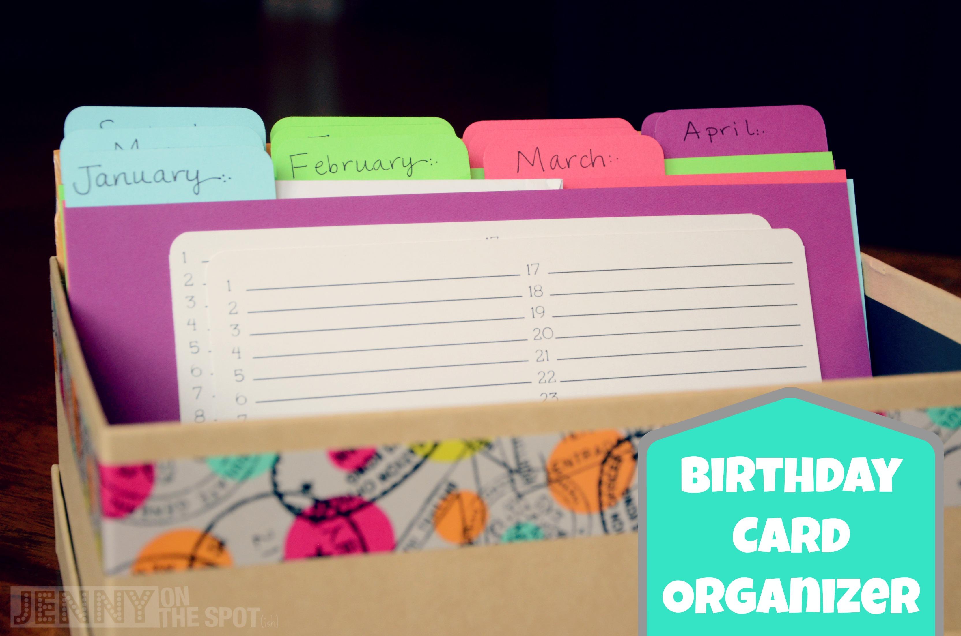 Birthday card organizer by @jennyonthespot