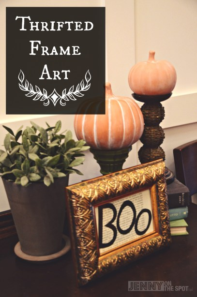Halloween-themed Thrifted Frame Art by @jennyonthespot