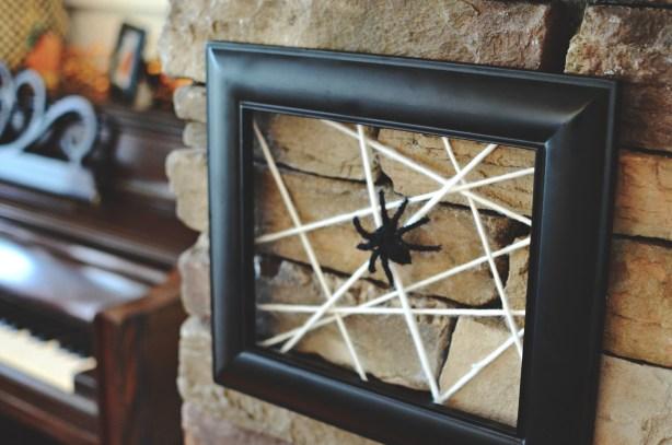 Framed Yarn Spider Web by @jennyonthespot