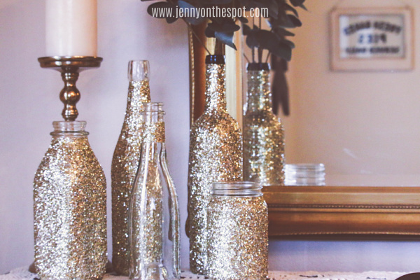 DIY Glittered Wine Bottles!!!