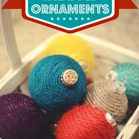 How To Make Yarn Wrapped Ornaments and Fuzzy Ball Ornaments