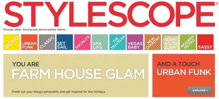HomeGoods Stylescope Quiz
