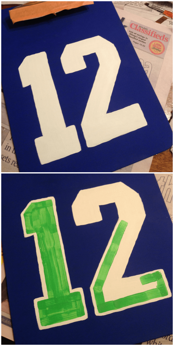 painting the numbers
