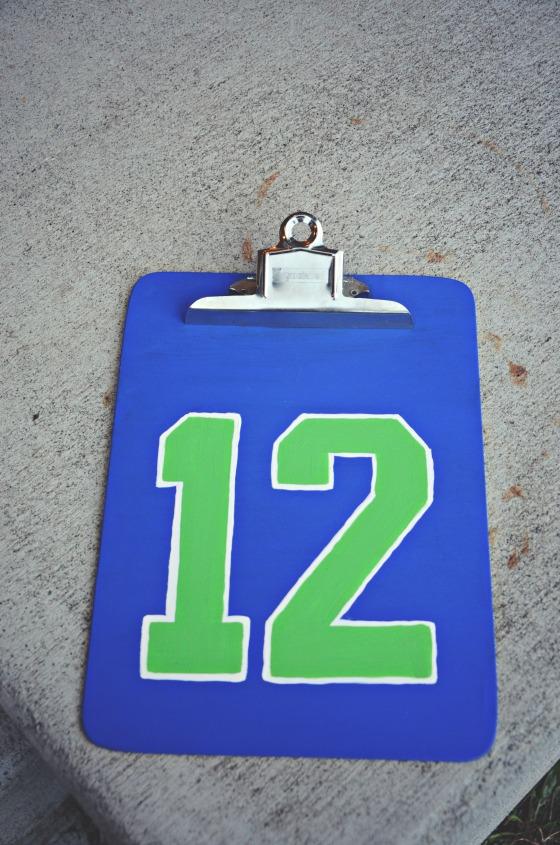12th Man Clipboard via @jennyonthespot