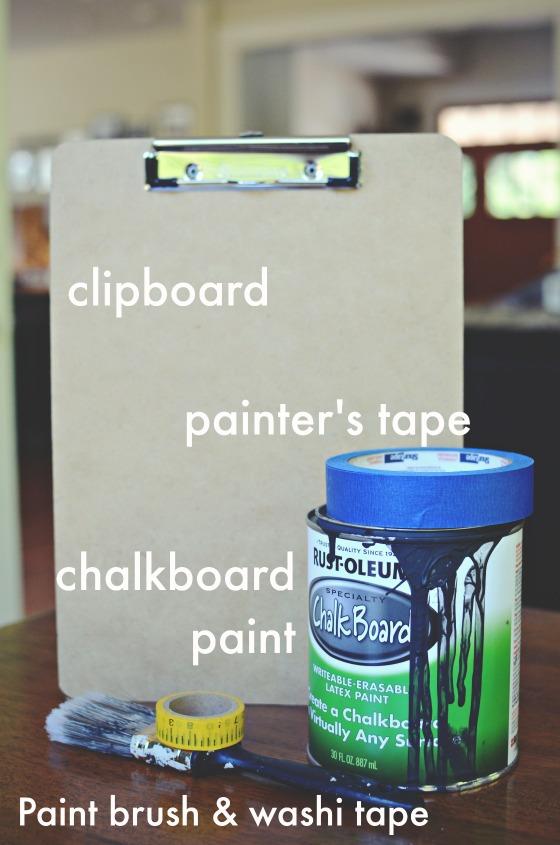 Thrifted clipboardturned chalk clipboard for teacher via @jennyonthespot