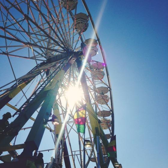 The ferris wheel at the Washington State Fair