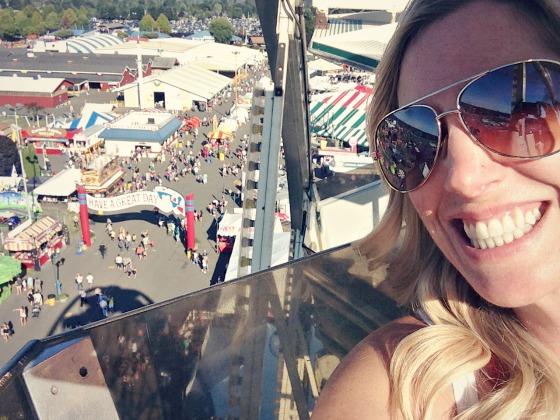fun times on the ferris wheel at the Washington State Fair