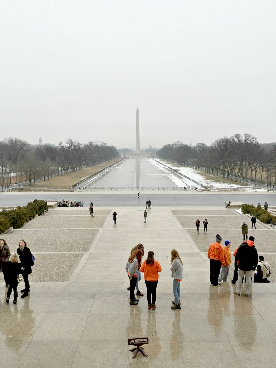 Washington National Monument and the reflecting pool