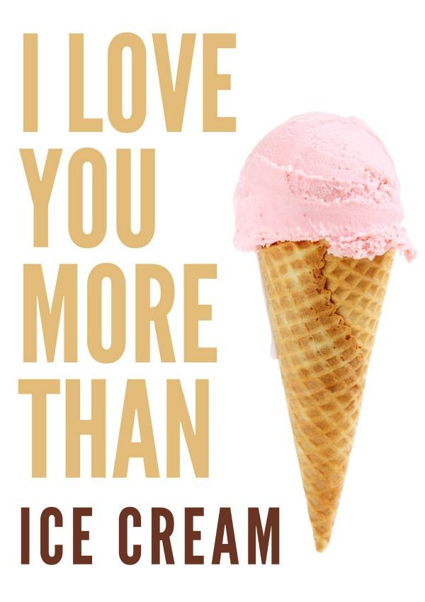 I love You More Than Ice Cream free printable via @jennyonthespot