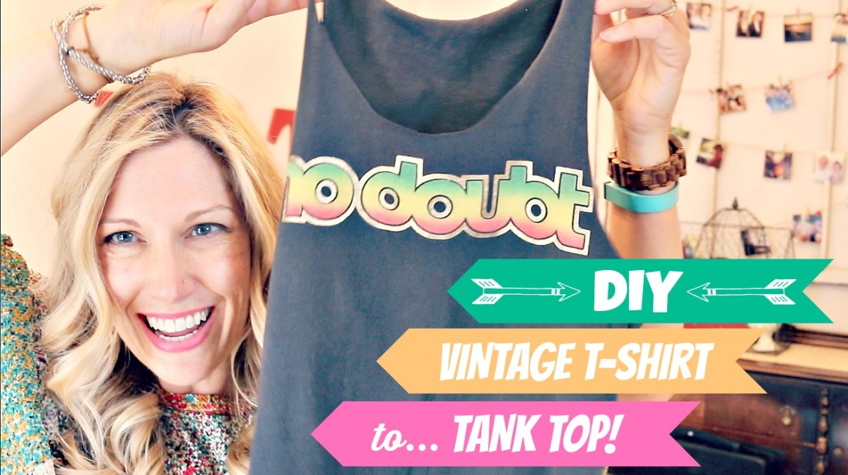 DIY: Thrifted (or old) T-shirt to TANK TOP!