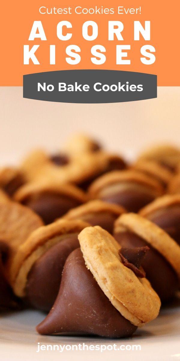 Acorn Cookies - No Bake Cookies