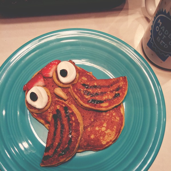 Owl pancakes via @jennyonthespot