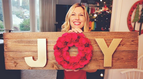 JOY sign via @jennyonthespot