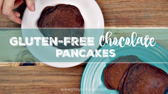 Gluten-free Chocolate Pancakes via @jennyonthespot