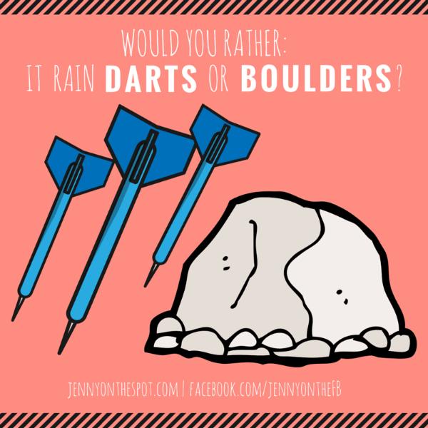 Darts or boulders via @jennyonthespot