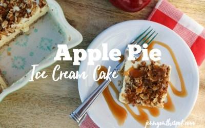 Apple Pie Ice Cream Cake. Or is it Cobbler?