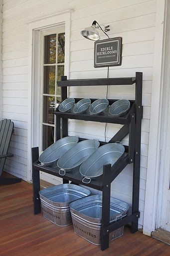 Outdoor bar, towel, suncreen, supplies station (11 Ways to Impress Guests at Your Outdoor Party! via @jennyonthespot)