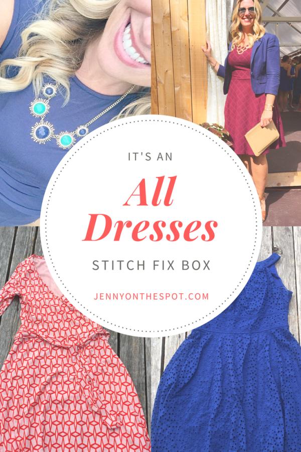 All dresses Stitch Fix Box | wedding weekend | jennyonthespot