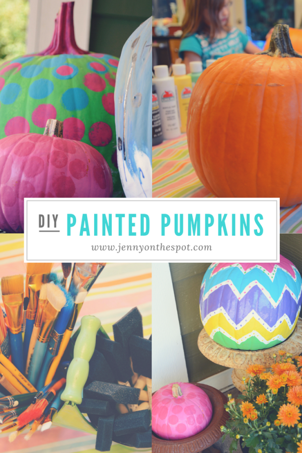 DIY painted pumpkins tutorial
