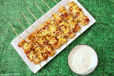 15 Super Bowl Party Recipes: Loaded Tater Tot Skewers