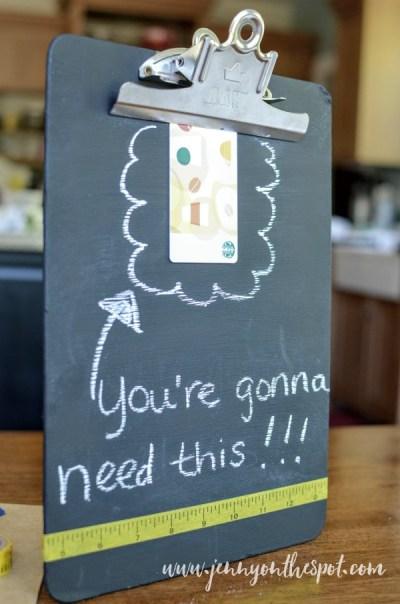 Chalkboard Clipboard www.jennyonthespot.com