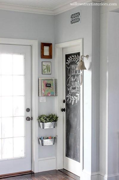 chalkboard paint | door