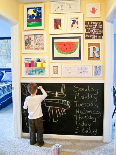 Chalkboard wall for kids