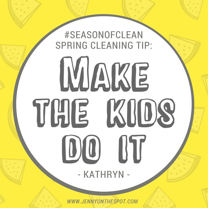 Best cleaning tip? Make the kids do it! | Jennyonthespot.com