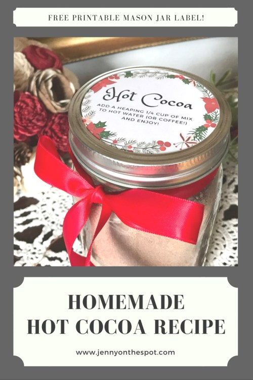 Homemade Hot Cocoa Free Printable Labels | www.jennyonthespot.com