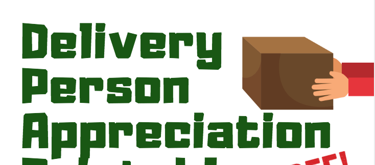 Delivery Person Holiday Appreciation - Free Printable!