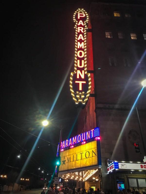 Hamilton at Seattle's Paramount Theatre