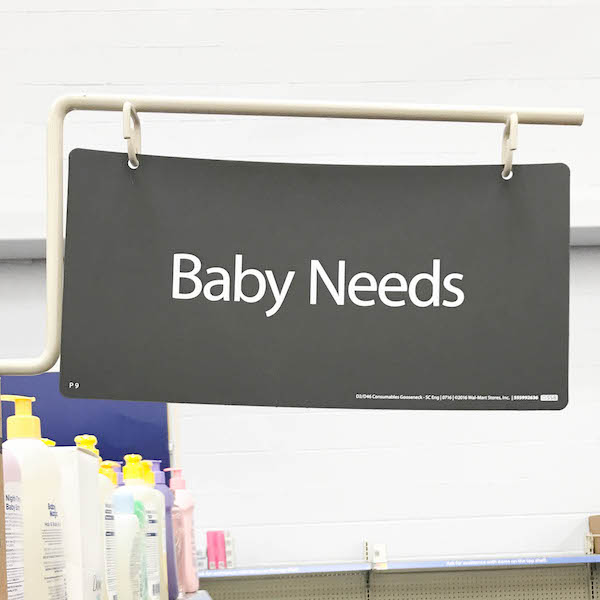 Johnson's baby products at Walmart