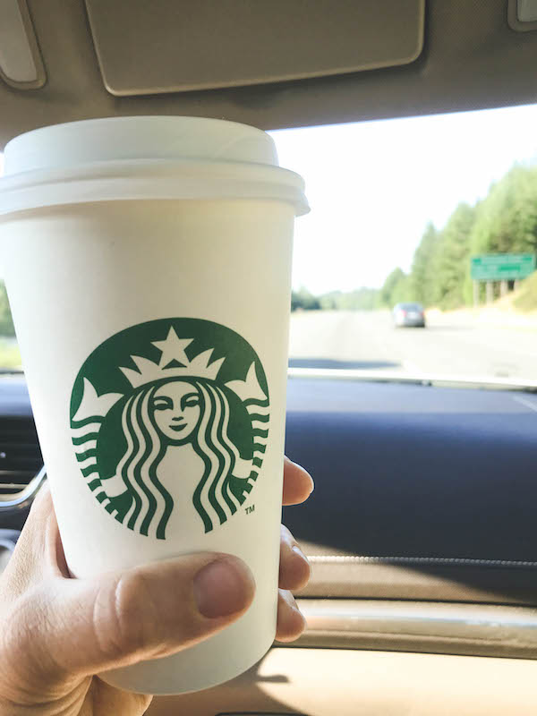 Starbucks Rewards™ Visa® Prepaid Card - mom redeeming Star rewards