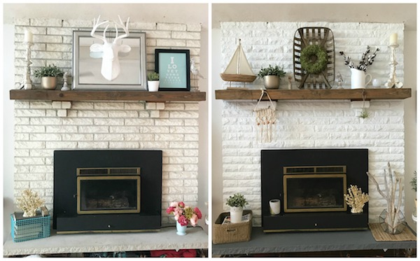 Home Improvement - brick fireplace facelift