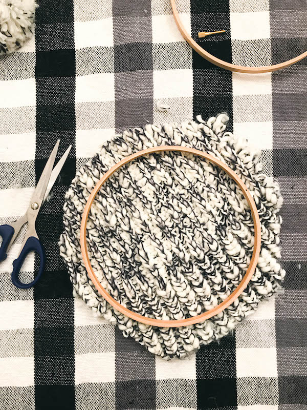 Embroidery Hoop Art: Upcycled Beanie