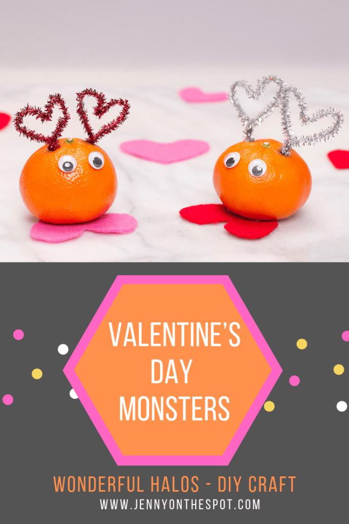 Wonderful Halos DIY Craft Valentine's Day Monsters