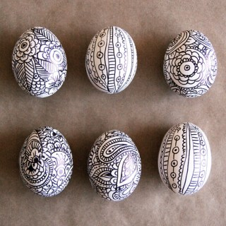 Easter egg doodles - Easter Egg Decorating Inspiration