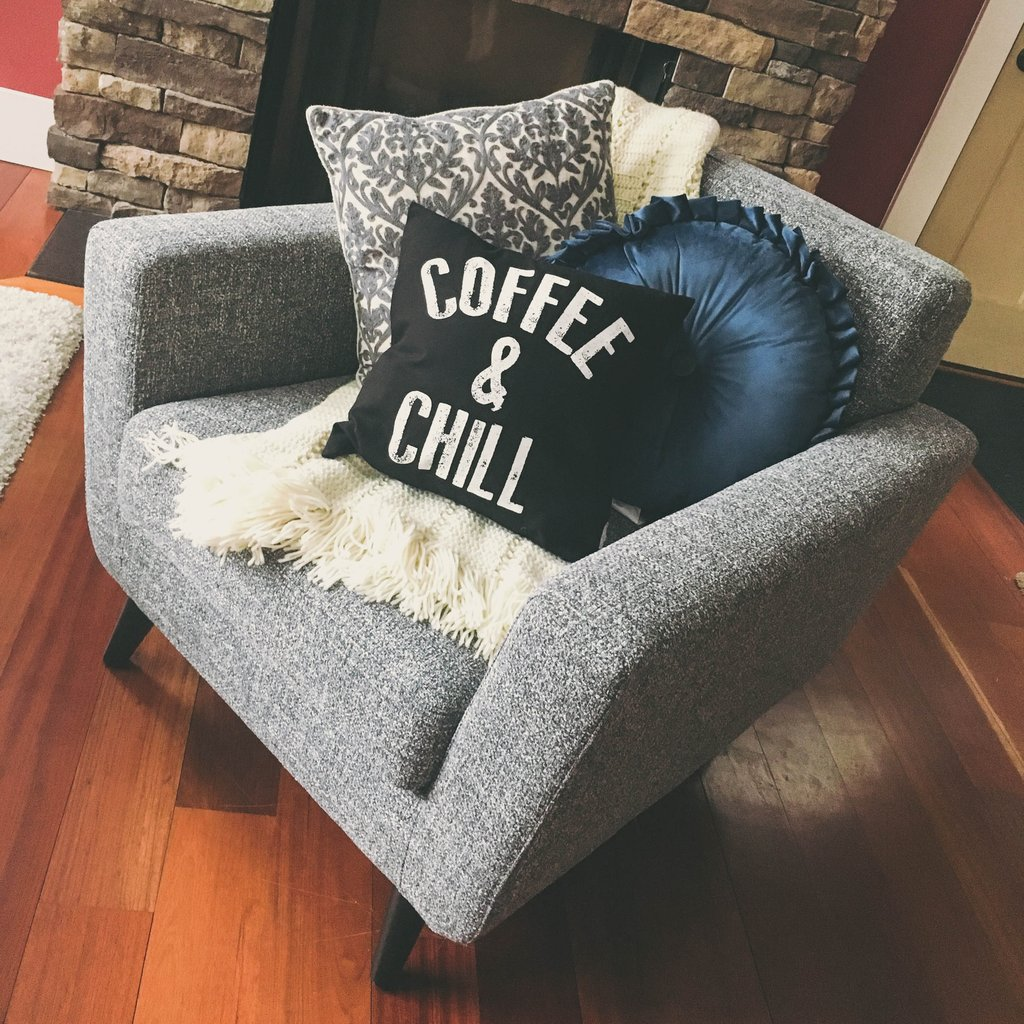 coffee and chill pillow covers at shop.jennyonthespot.com