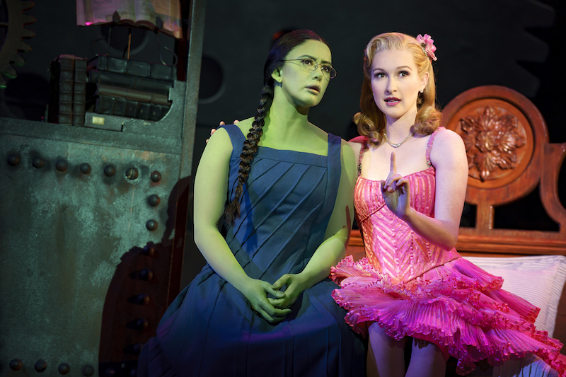 Mariand Torres & Erin Mackey in WICKED. Photo by Joan Marcus