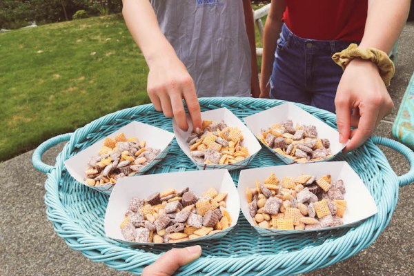 Loaded Peanut Butter Chex Party Mix feeds ALL the kids on the block