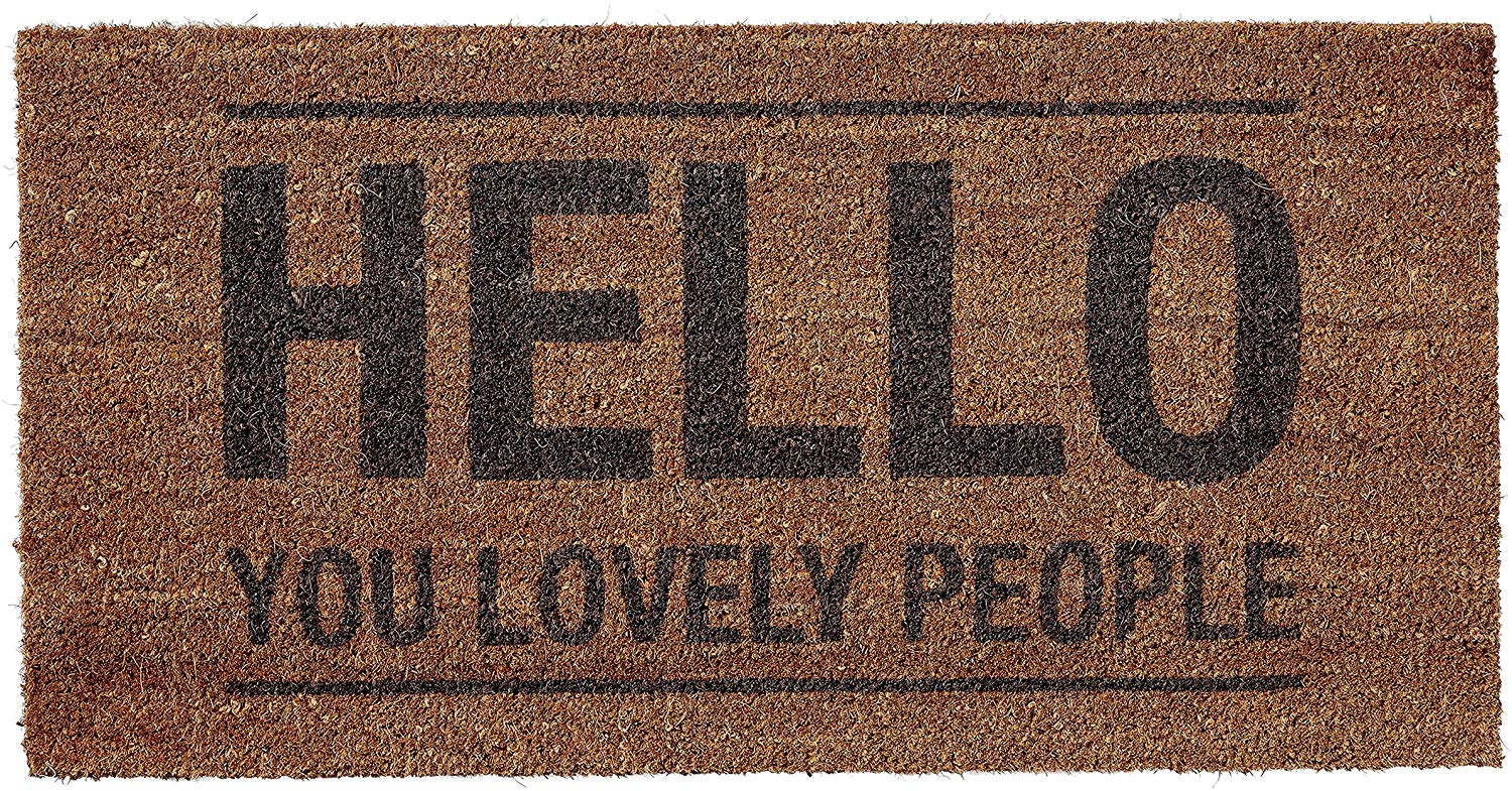 Hello You LOvely People Welcome Mat on Amazon
