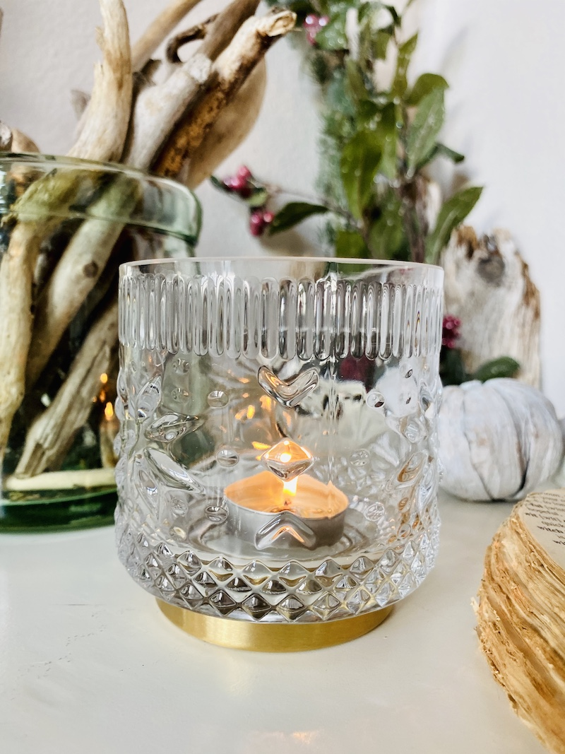 Holiday Gift Guide - glass hurricane candle holder