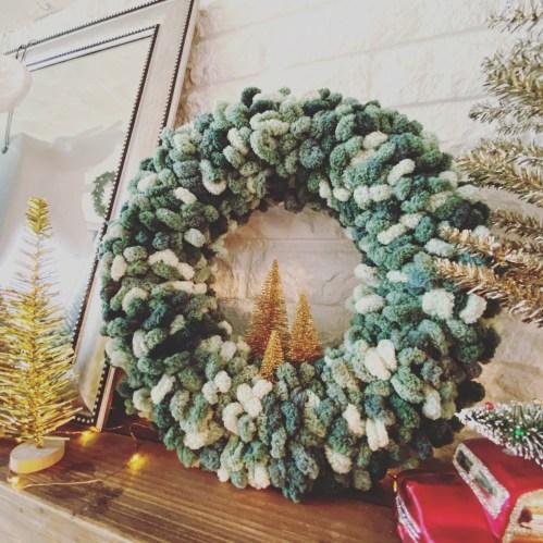 Loopy Yarn Wreath