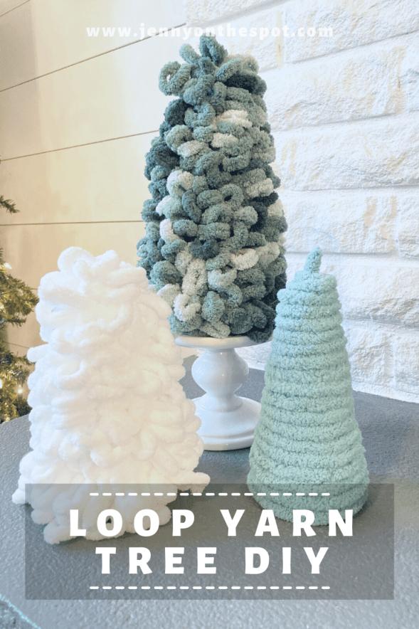 Styrofoam Loop Yarn Christmas Tree DIY