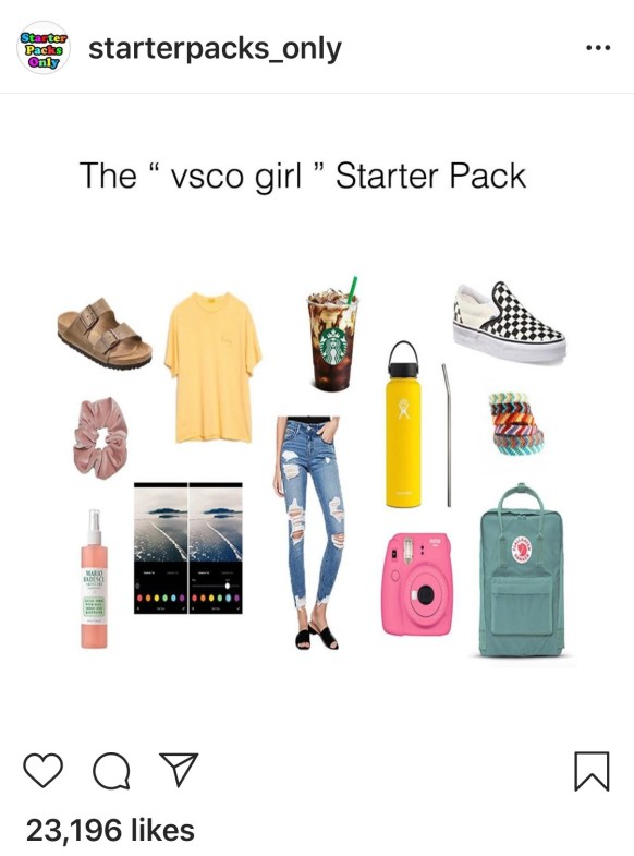 VSCO Girl Starter pack on Instagram