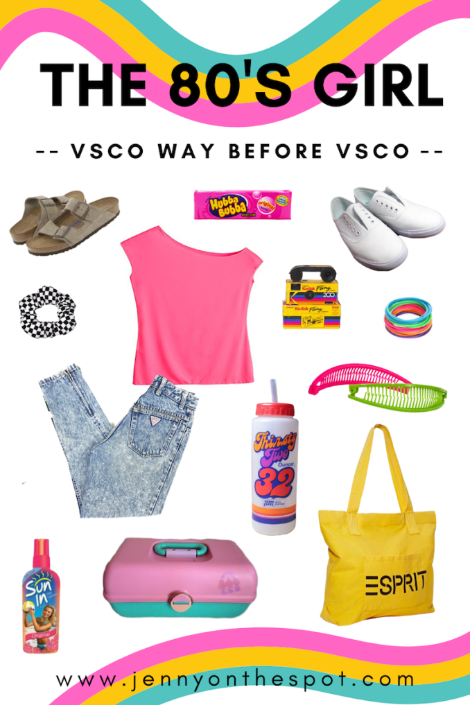 The 80s Girl - VSCO Girl Way before VSCO- pin